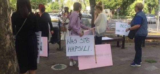 Protest žena sa Belvedera
